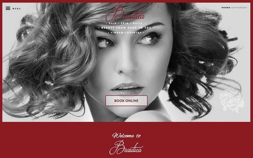 Helios Website Design - Beautica Website