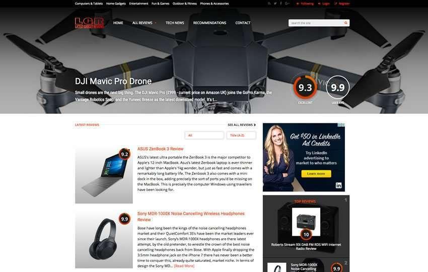 Helios Website Design - LGR Website