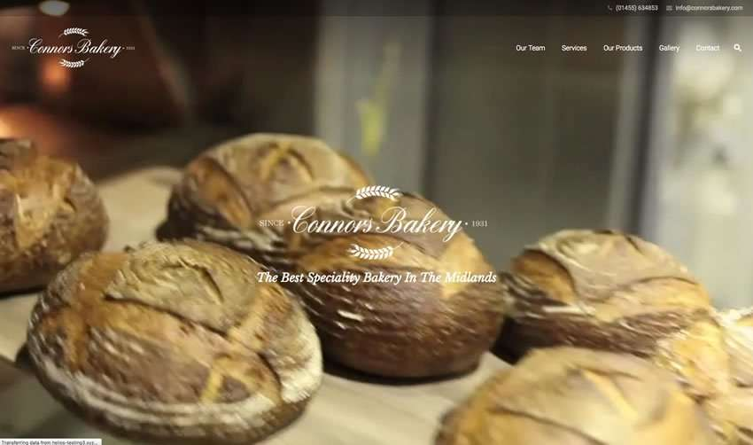 Helios Website Design - Connor's Bakery