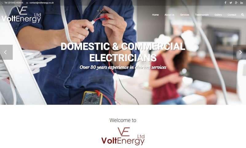 Volt Energy Wordpress Website