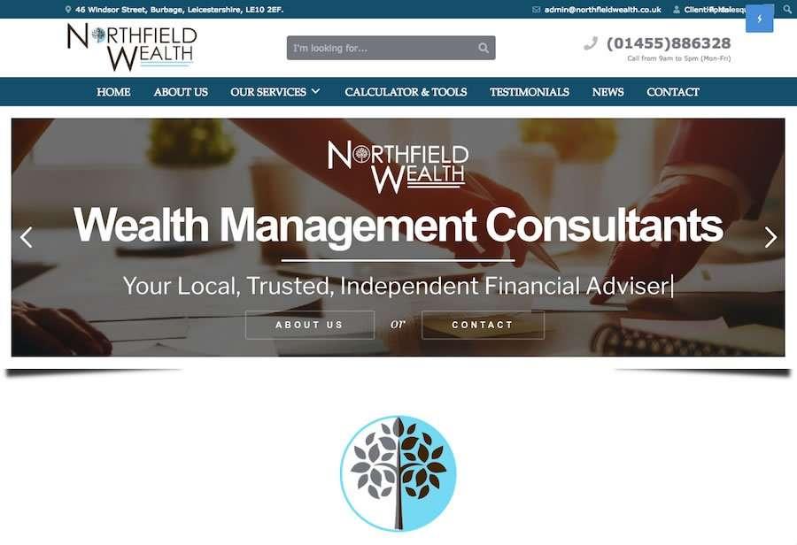Northfield Wealth - Independent Financial Advisers Wordpress Website