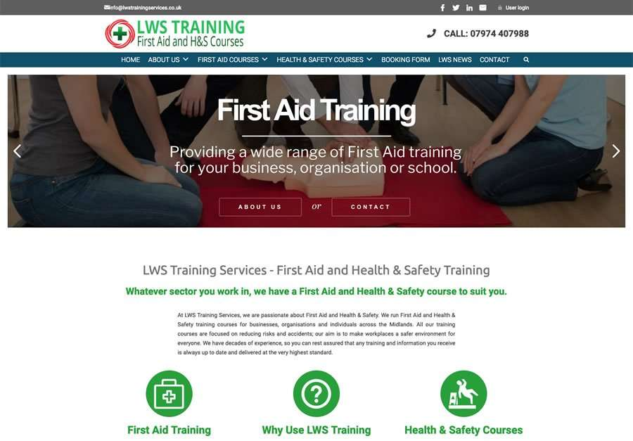 LWS Training - First Aid and H&S Training Consultancy - Wordpress Website