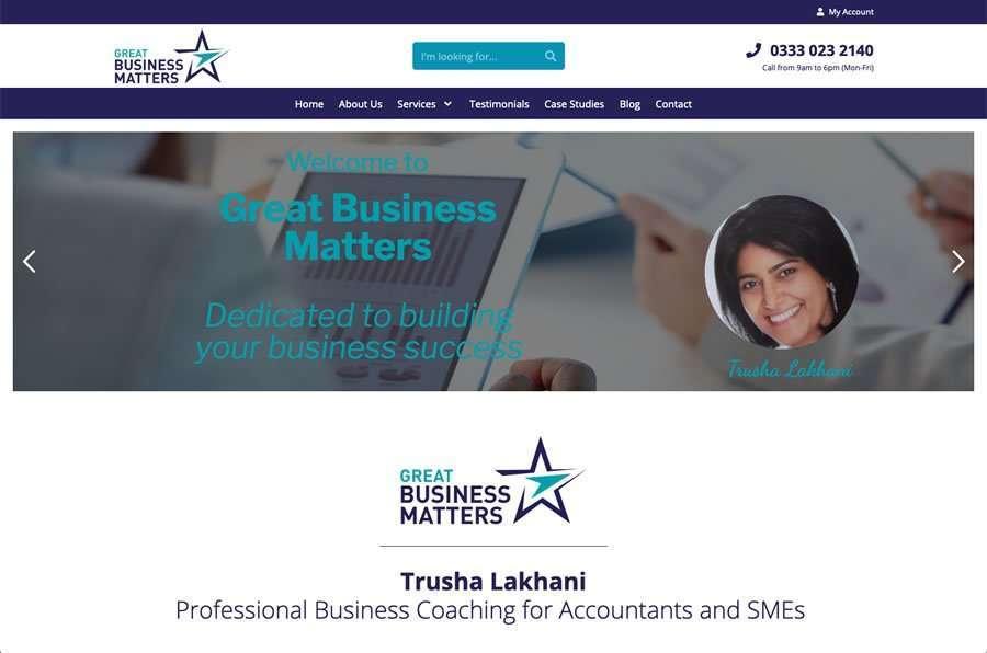 Trusha Lakhani - Professional Business Coaching Wordpress Website