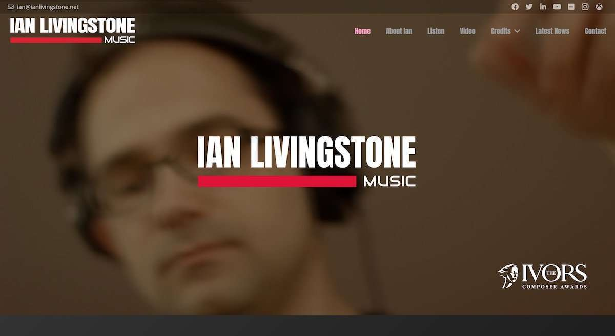 Ian Livingstone Composer wordpress website